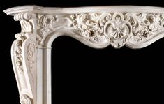 Scottish Rococo Marble Antique Fireplace