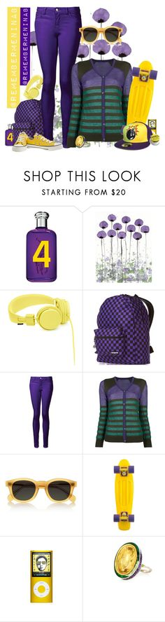 """""""YOU'LL SHOOT YOUR EYE OUT"""" by remembermeninabjoinmygroup ❤ liked on Polyvore featuring Ralph Lauren, Urbanears, Yak Pak, Issey Miyake Cauliflower, Illesteva, Penny, Alice Cicolini, Chapstick, Converse and nina b"""