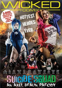 SUICIDE SQUAD XXX - Axel Braun strikes back! For his fourth Wicked Comix title, the legendary Adult film director takes on the most anticipated superhero movie of the summer with another hi-budget sexy spoof. Featuring a stellar cast lead by Kleio Valentien, reprising her award-winning role as Harley Quinn, megastar Asa Akira as Katana, Anna Bell Peaks in a star-making role as Killer Frost, and ABP contract girl Riley Steele returning as Enchantress, Suicide Squad XXX: An Axel Braun…