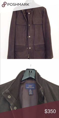 NEW!! Brooks Brothers Suede Leather Jacket Brand new!! It was a gift to my husband hat was unfortunate too large on him and we couldn't return it. It is a beautiful coat. We can ship same day as purchase! Brooks Brothers Jackets & Coats