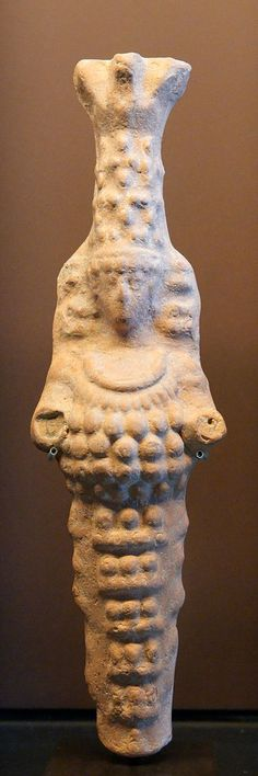 Artemis Ephesia Louvre CA1202. Artemis of Ephesus. Terracotta figurine of Smyrna, 1st century BC