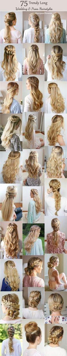 Long Wedding & Prom Hairstyles from Missysueblog / http://www.deerpearlflowers.com/wedding-prom-hairstyles-for-long-hair/