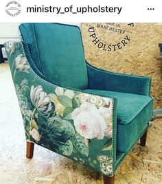 Upcycled Armchair | #UpcycledArmchair | Ministry of Upholstery