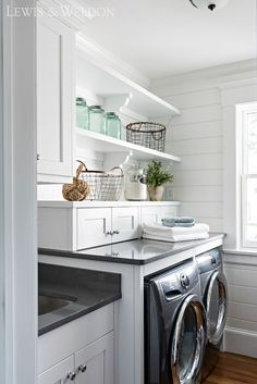 Image result for white and gray laundry room
