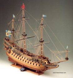 Wasa SM13 Historic Scale Wooden Model Ship, Boat Kit by Corel