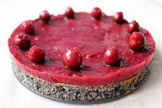 Višňovo-maková torta bez múky Raw Food Recipes, Healthy Recipes, Poppy Cake, Raspberry, Paleo, Cheesecake, Food And Drink, Low Carb, Sweets