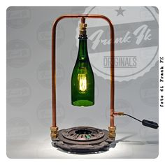 """""""Stand Alone"""" - hand made Vintage Industrial table lamp"""