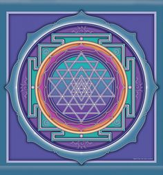 Sri Yantra by Bryon Allen  Meditation on the Sri Yantra assists in the…