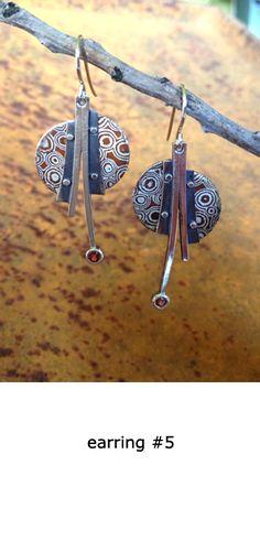 Mokume Gane Earrings, found on Alex Horst Jewelry :http://www.alexhorstjewelry.com/index.html