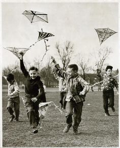 Flying kites on a windy day. Flying kites on a windy day.