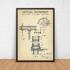 Anesthetic machine patent anaesthetist medical doctors office optical instrument patent print digital download eye clinic decor optician optometry wall art optometrist gift ophthalmology blueprint malvernweather Images