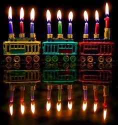 Happy Hanukkah menorah.