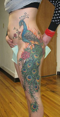 peacock tattoos for women | Peacock Tattoo Designs For Women