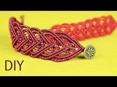 ▶ Snaky Macramé Bracelet Tutorial - YouTube
