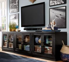 Reynolds Long Low Media Suite | Pottery Barn