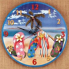 flip flop signs | Wooden FLIP FLOP sandal BEACH SIGN plaque WALL DECOR