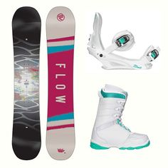 d119d167f98e Flow Silhouette L-1 Two Womens Complete Snowboard Package