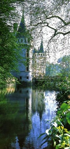 Chateau d'Azay-le-Rideau - Loire Valley - France. I want to go to a castle so bad! Looks like sleeping beauties castle! Beautiful Castles, Beautiful Places, Places To Travel, Places To See, Places Around The World, Around The Worlds, Loire Valley France, Belle France, French Castles