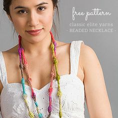 Free Knitting Pattern: Santorini Beaded Necklace