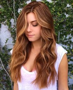 Strawberry Blonde Highlights For Brown Hair, light brown hair with strawberry balayage.