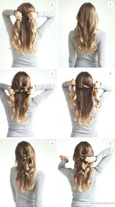 170 Easy Hairstyles Step by Step DIY hair-styling can help you to stand apart from the crowds - Best Frisuren ideen Simple Wedding Hairstyles, Easy Hairstyles For Long Hair, Curled Hairstyles, Girl Hairstyles, Messy Short Hair, Medium Long Hair, Your Hair, Short Hair Styles, Beautiful