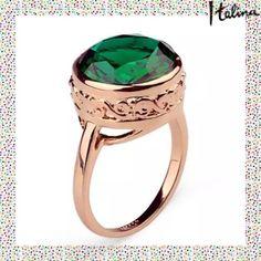 NEW LISTINGGenuine Italina Rigant  Austria Green. 18K gold plated.  Genuine Italina Rigant  Austria Crystal ring. Size 6.5. (3/31) Tamarismom Jewelry Rings