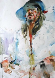 Figurative Watercolor Painting by Charles Reid