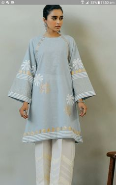 Simple Pakistani Dresses, Pakistani Outfits, Kimono Top, Stylish, Collection, Tops, Women, Fashion, Moda