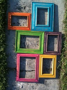 Upcycled picture frame ensemble. 1 day to restore.