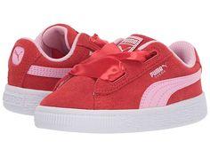11b950078b16 Puma Kids Suede Heart Radicals (Toddler) Girls Shoes Hibiscus Pale Pink