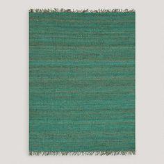 One of my favorite discoveries at WorldMarket.com: Aqua Venora Flat-Woven Jute Rug 5x8 = $199.00 - for the studio?
