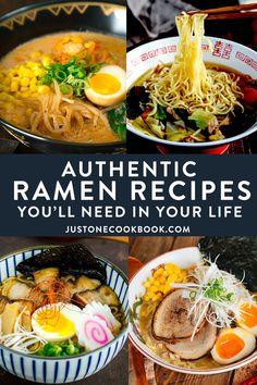 Authentic Ramen Recipe, Best Ramen Recipe, Authentic Chinese Recipes, Ramen Recipes, Cooking Recipes, Japanese Meals, Easy Japanese Recipes, Japanese Food, Indian Foods