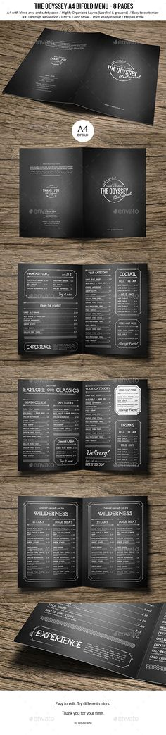 Brewery and Brew Pub Menu Template Design by StockLayouts - menu design template