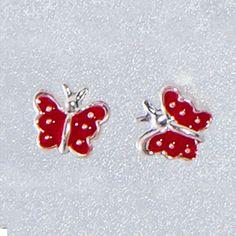 Cercei din argint pentru fetite Fluturasidoar pe www.silverbox.ro