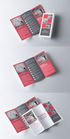 Business Trifold Brochure Template Easy to customize fully layered if you need any help don't hesitate to contact me thr Brochure Indesign, Template Brochure, Brochure Cover, Brochure Layout, Brochure Ideas, Card Templates, Pamphlet Design, Leaflet Design, Medical Brochure