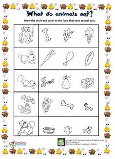 what do animals eat 1 animal worksheets worksheets. Black Bedroom Furniture Sets. Home Design Ideas