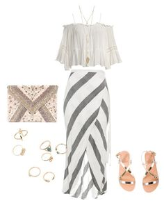 """""""ethnic boho"""" by anisa311 on Polyvore featuring Sans Souci, Ancient Greek Sandals and LULUS"""