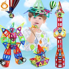 30.00$  Buy now - http://alik92.shopchina.info/go.php?t=32794123127 - Magnetic Blocks Toys For Kids MINI 130PCS Magnetic Designer Construction Set Model & Building Toy  Children Educational Toys 30.00$ #magazineonlinewebsite