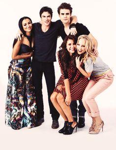 The Vampire Diaries cast at Comic Con.
