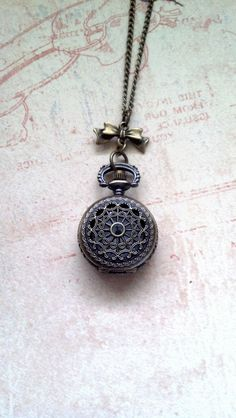 Steam Punk Pocket Watch Locket Necklace with by WhisperedWishes, $29.95