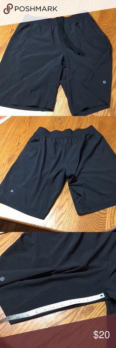 """Lululemon shorts Lululemon shorts Black size L no tags. Inseam 11"""", waist straight across is about 16.5"""" lululemon athletica Shorts Athletic"""