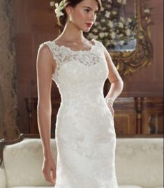 Buy Casablanca Bridal Lace Back Wedding Dress-HuLu Wedding Dresses Size 14, Wedding Dress Necklines, Lace Wedding Dress, Open Back Wedding Dress, Applique Wedding Dress, Wedding Dress Trends, Bridal Wedding Dresses, Bridal Lace, Bridal Style