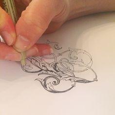 hand drawn monogram from bell'invito