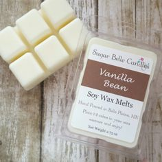 Vanilla Bean is my new personal favorite. Scented Wax Melts, Soy Wax Melts, Diy Candles, Scented Candles, Homemade Foundation, Clamshell Packaging, Tart Warmer, Wax Warmers, Wax Tarts