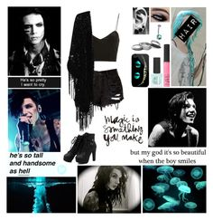 """""""♫ I'll be your girl backstage at your show. Velvet ropes and guitars, yeah cause you're my rock star. In between the sets eyeliner and cigarettes ♫"""" by blueknight ❤ liked on Polyvore featuring Topshop, True Decadence, Iosselliani and NARS Cosmetics"""
