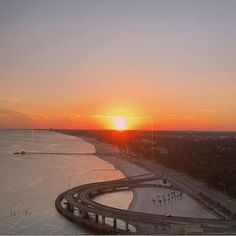 Beautiful view of the sunset from the Beau Rivage in Biloxi, Mississippi #MSCoastLife