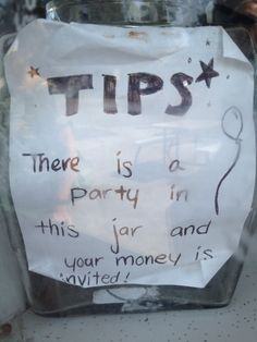 Tip jars on Pinterest | Funny, Tips and Cow Tipping