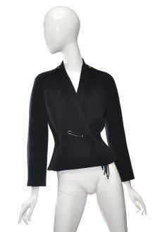 THIERRY MUGLER černé vlněné sako s třásněmi 38  #thierrymugler #sako #vlna #trasne Thierry Mugler, Vogue, Blazer, Blouse, Long Sleeve, Sleeves, Jackets, Tops, Women