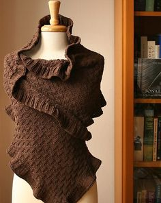 Winter, shawl, brown and I love it