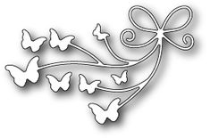 Memory Box Beloved Butterflies Die. 100% steel craft die from Memory Box. For use on cardstock, felt, and fabric. Cut, stencil, emboss, create. Use in most lead